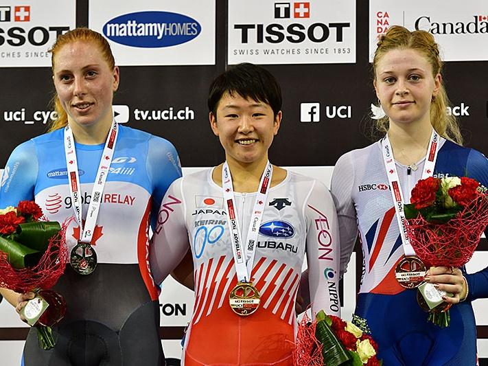 梶原悠未がUCIトラックワールドカップ第3戦 女子オムニアムにて日本人史上初となる金メダルを獲得