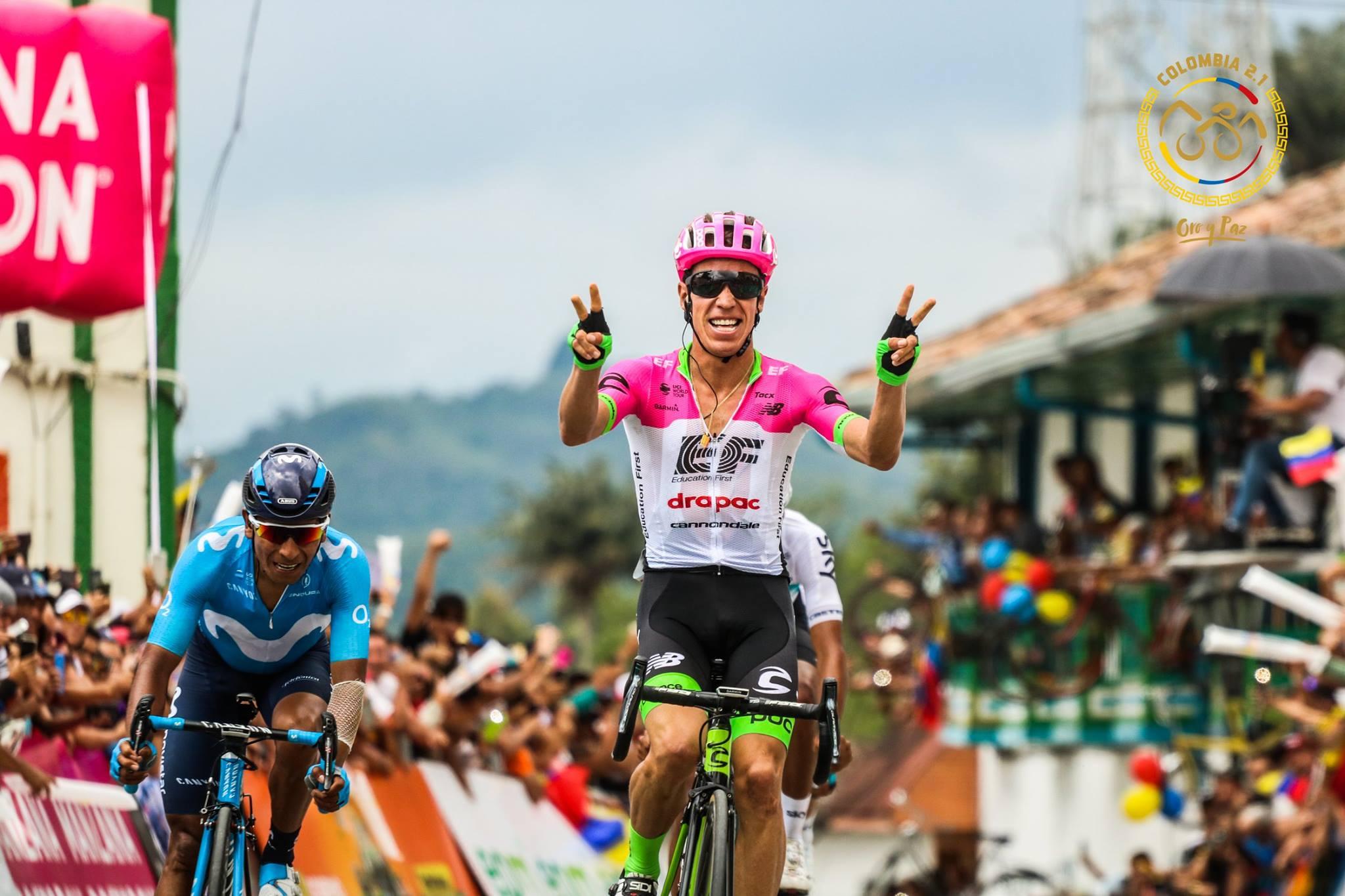 第5ステージを制したリゴベルト・ウラン(コロンビア、EFエデュケーションファースト・ドラパック)