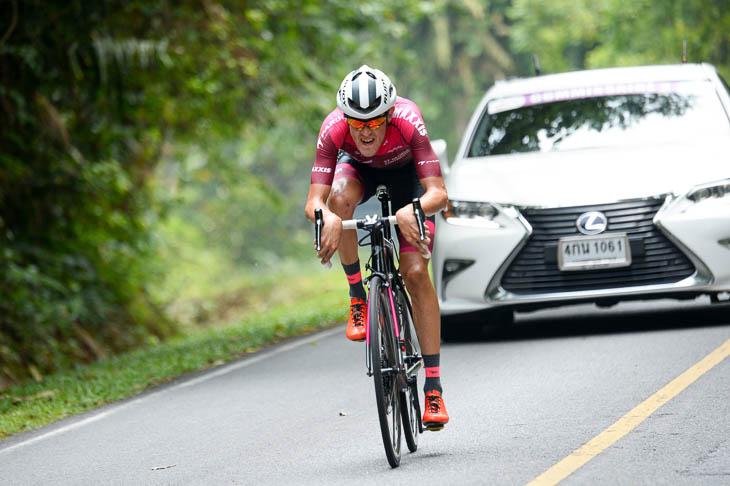 ツアー・オブ・タイランドの山岳ステージで強さを見せたベンジャミン・ディボール(セントジョージ・コンチネンタルサイクリングチーム)
