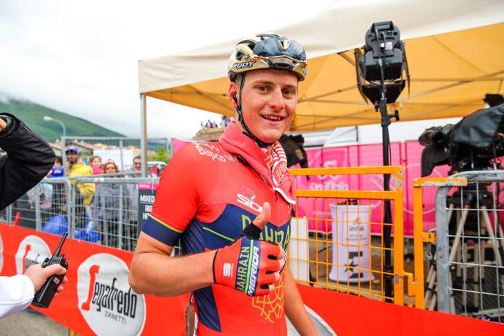 ブエルタに続いてジロでステージ優勝を飾ったマテイ・モホリッチ(スロベニア、バーレーン・メリダ)