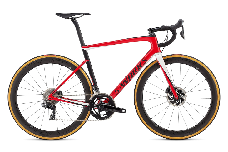 スペシャライズド S-Works Tarmac Disc(Gloss Flo Red)