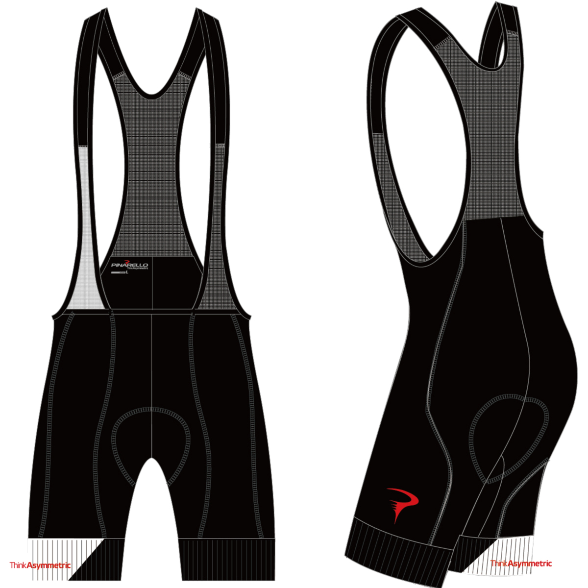 ピナレロ Dual Gripper Bibshorts(Think Asymmetric)