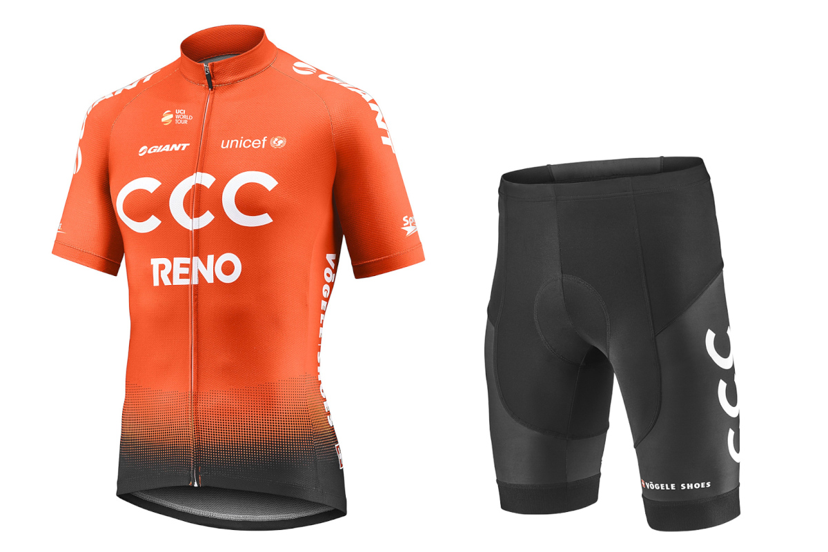 2019 CCC TEAM REPLICA SS JERSEY&SHORTS